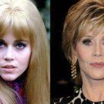 Jane Fonda after facelift plastic surgery