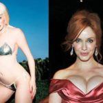 Christina Hendricks before and after breast implants plastic surgery 150x150