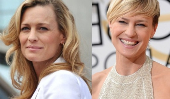 Robin Wright before and after