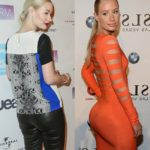 Iggy Azalea before and after alleged butt implants