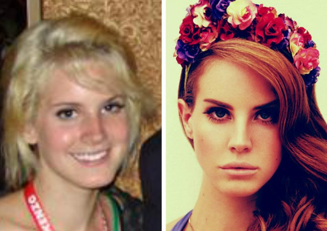 Lana Del Rey before and after photos