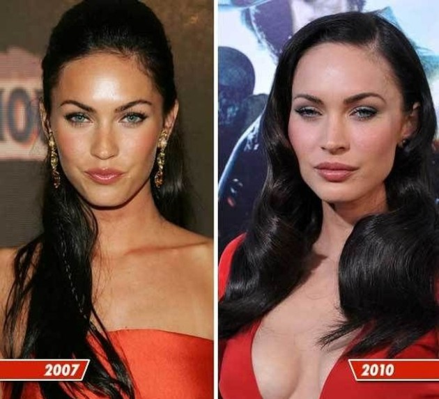 Megan Fox before and after 630x573