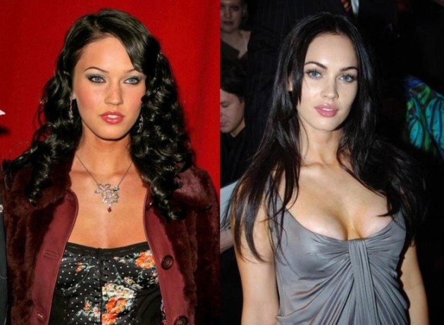 Megan Fox breast implants before and after 630x462