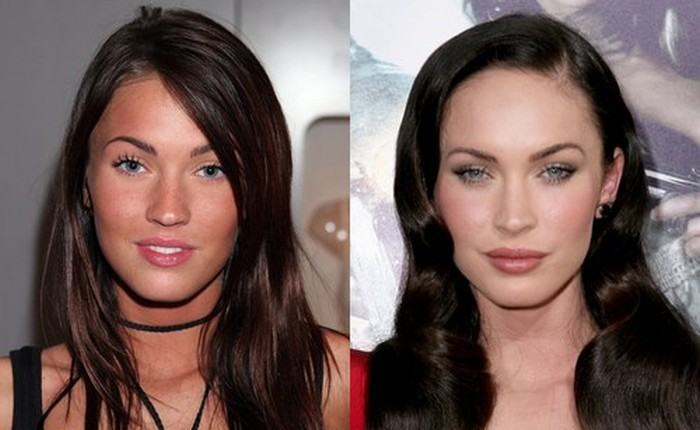 Megan Fox face before and after