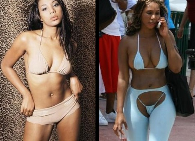 Tamar Braxton before and after breast implants plastic surgery
