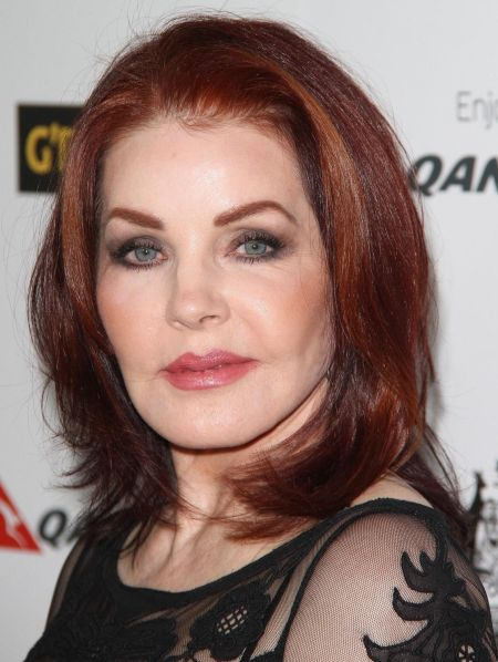 priscilla presley black hair