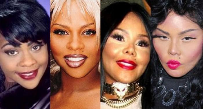 Lil Kim plastic surgery transformation