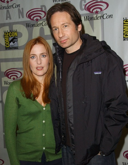 Gillian Anderson and David Duchovny X Files