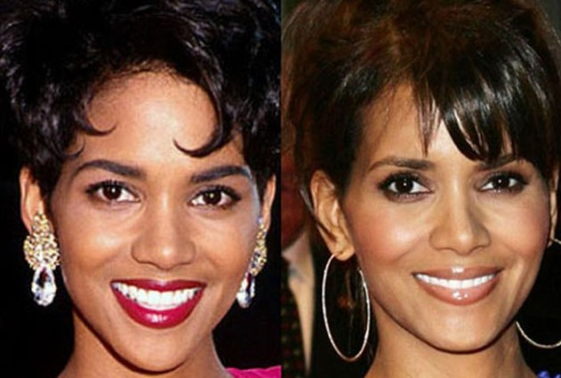 halle berry nose job plastic surgery before and after 630x424