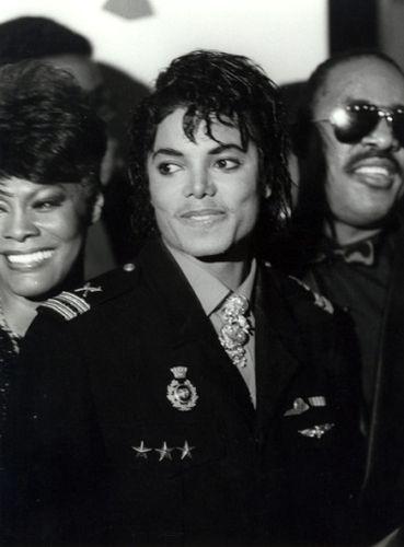 Michael Jackson Dionne Warwick Stevie Wonder