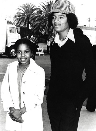 Michael Jackson Young with sister