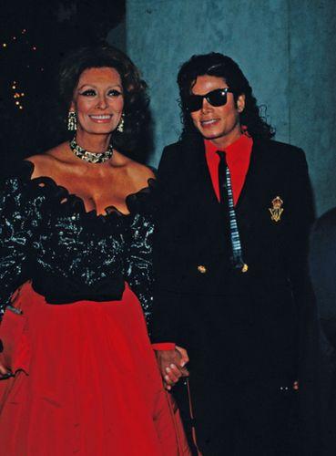 Michael Jackson and Sofia Loren