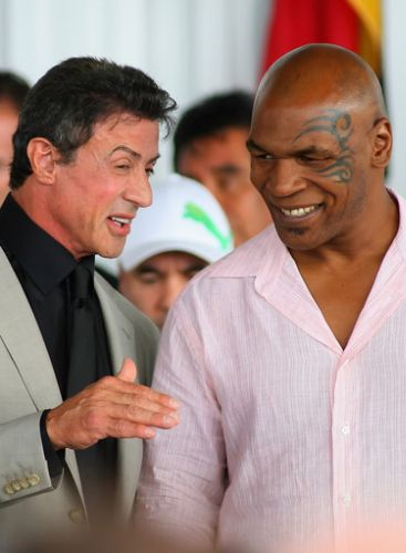 Sylvester Stallone and Mike Tyson