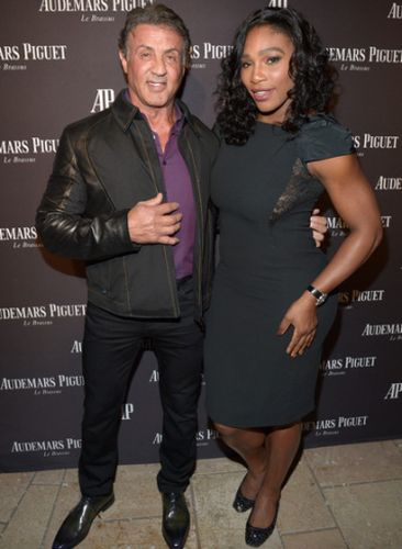 Sylvester Stallone and Serena Williams 2015