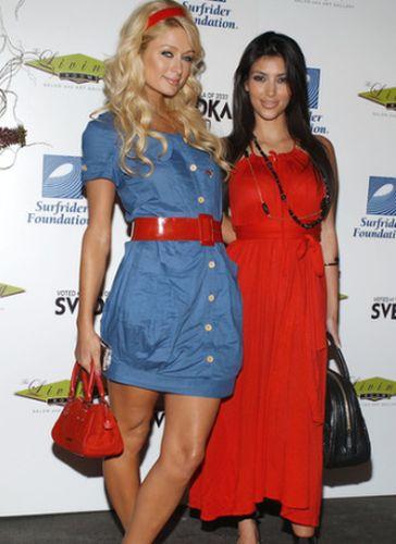 Kim Kardashian and Paris Hilton