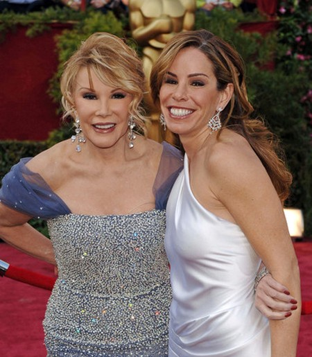 Joan Rivers and Melissa Rivers in 2005 before most plastic surgeries