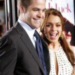 Lindsay Lohan and Chris Pine