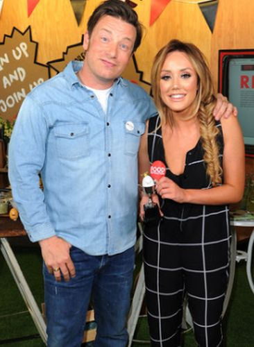 Charlotte Crosby and Jamie Oliver