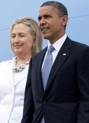 Hillary Clinton and Barrack Obama