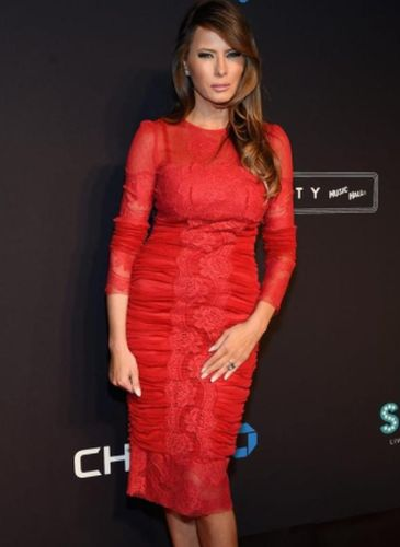 Melania Trump Red Dress