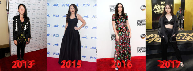 Noah Cyrus before and after 630x233