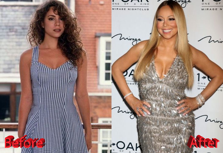 Mariah Carey Before and After Breast Enlargement Surgery